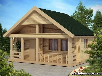 Одноэтажные дома - Галерея - Строительство деревянных ... Керамзитобетон Кровля
